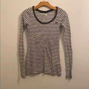 NWT gilly Hicks white striped top size xs